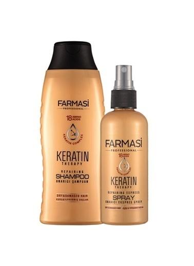 Farmasi 2'Li Keratin Şampuan Ve Onarıcı Ekspres Sprey Seti Renksiz